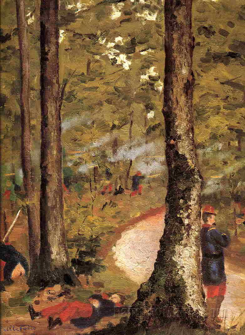 Yerres, Soldiers in the Woods