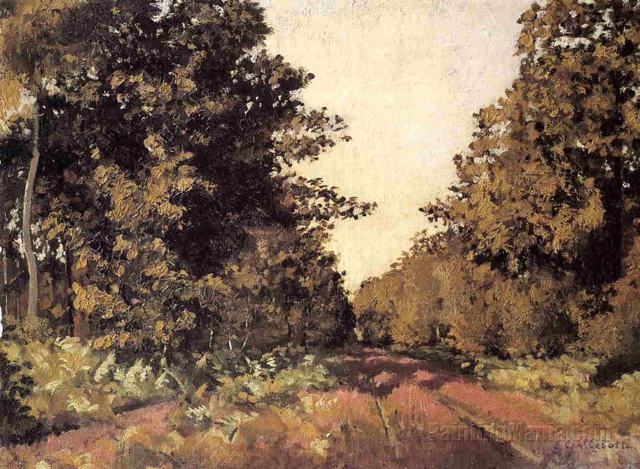 "Yerres, Woods at la Grange, Path of the Great ""Ha-Ha"""
