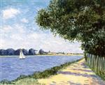 The Basin At Argenteuil Gustave Caillebotte Paintings