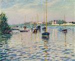 Bateaux au mouillage sur la Seine a Argenteuil