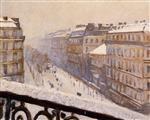 Boulevard Haussmann, Snow