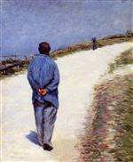 Man in a Smock (Father Magloire on the Road between Saint-Clair and Etretat)