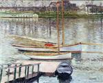 Sailboats at Anchor on the Seine at Argenteuil