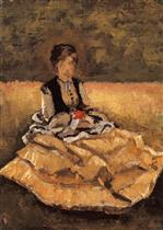 Woman Seated on the Grass (fragment)