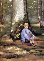 Yerres. Camille Daurelle under an Oak Tree