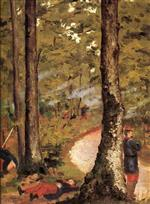 Yerres. Soldiers in the Woods