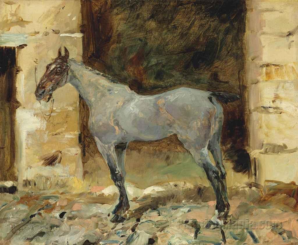 Cheval attache (Horse Tied)