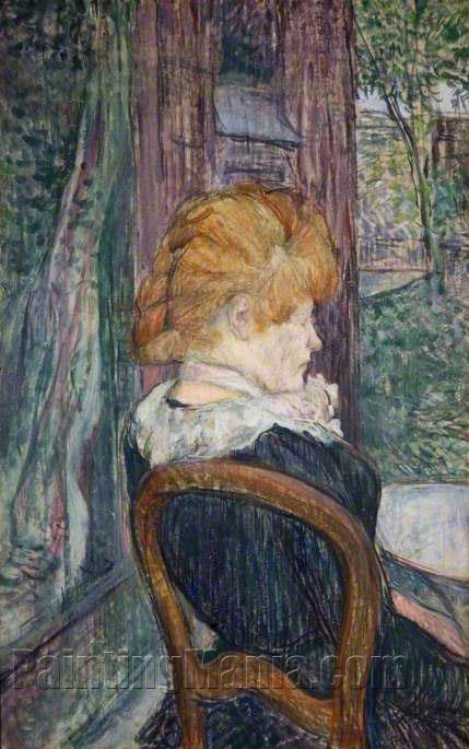 A Woman Seated in a Garden