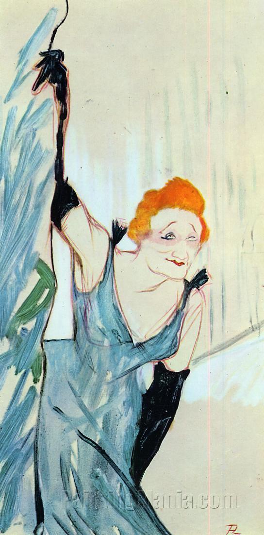 Yvette Guilbert Taking a Curtain Call