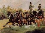 Alphonse de Toulouse-Lautrec Driving His Four-in-Hand