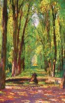 Allee dans le parc du chateau de Versailles