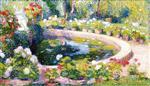 Bassin central de parc du Manoir de Marquayrol