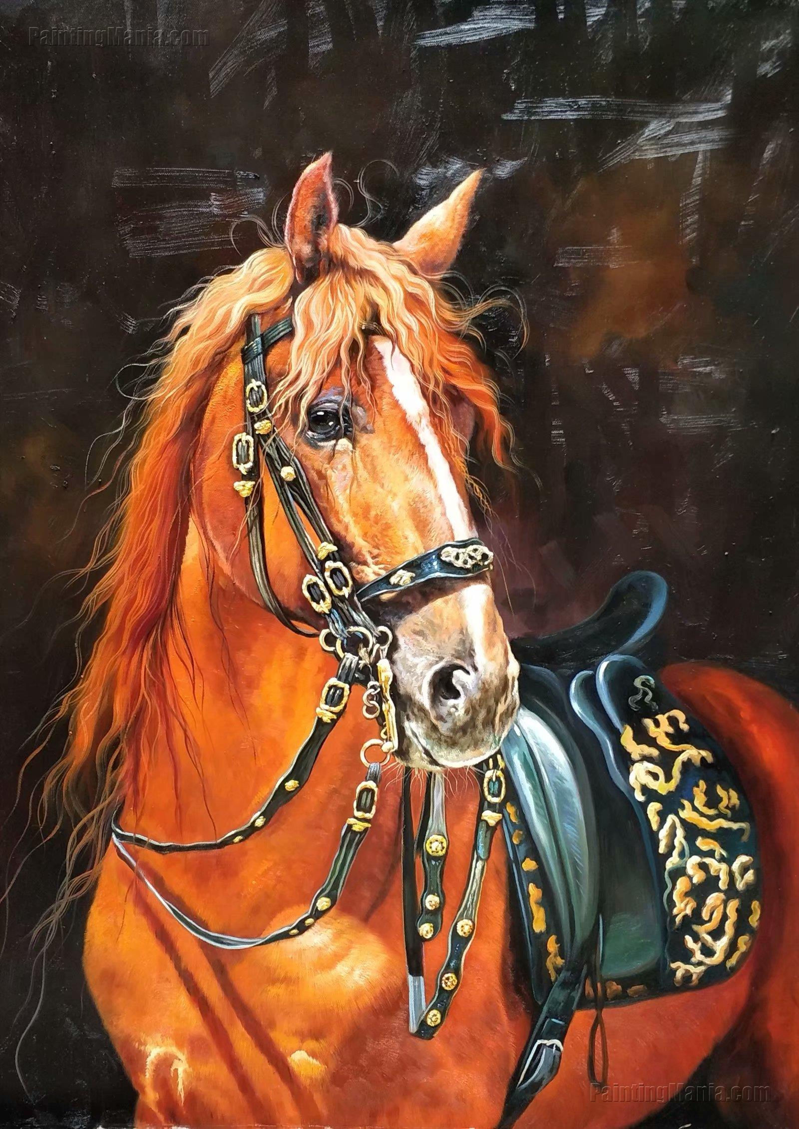 The Horse with Saddle