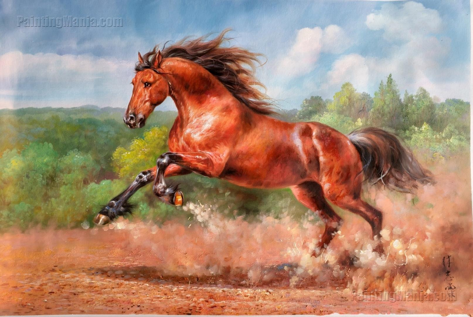 The Running Red Horse