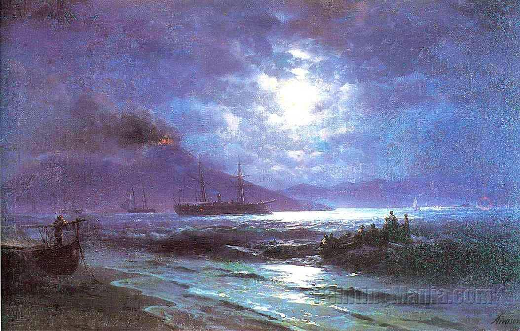 The Bay of Naples by Moonlight 1892