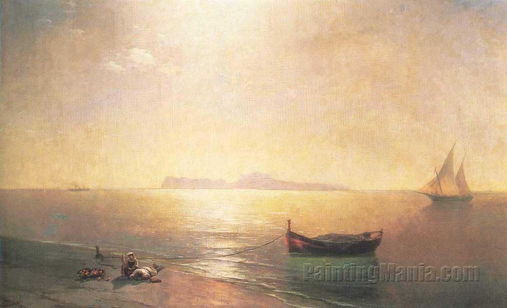 Calm on the Mediterranean Sea