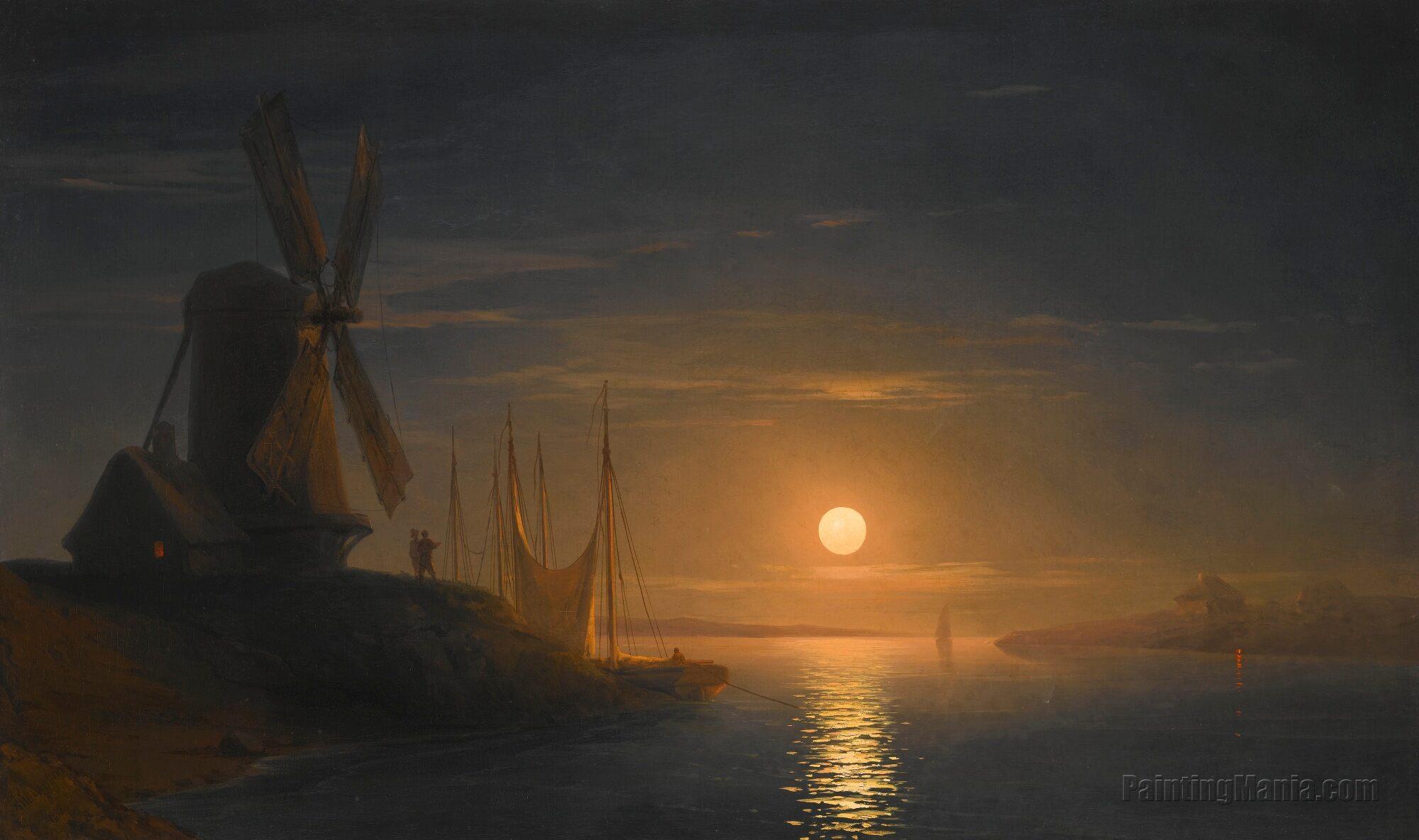Moonlight Over the Dnieper
