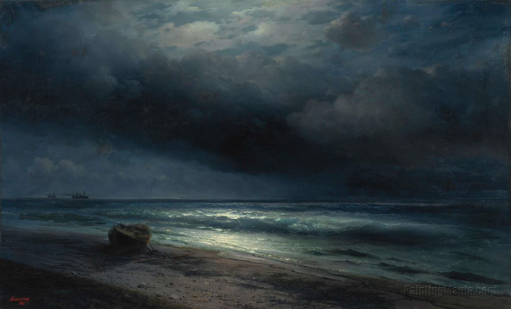 A Moonlit Night at Sea