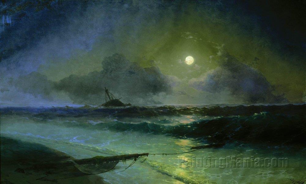 Moonrise in Feodosia