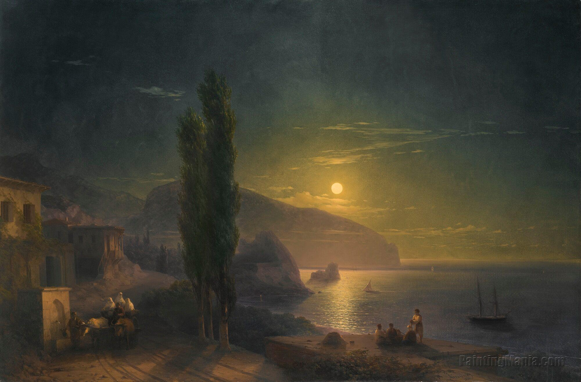 Moonrise over Ayu Dag