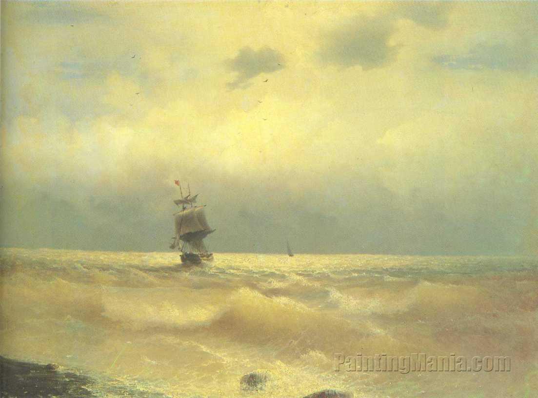 The Ship near Coast