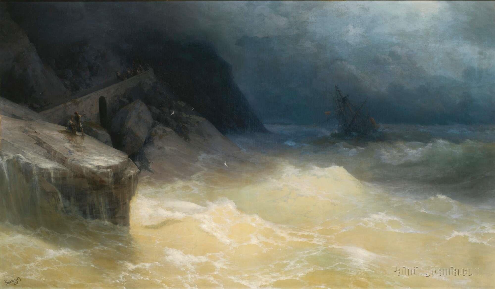 Shipwreck off the Black Sea Coast