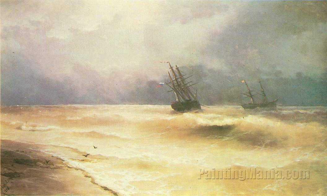 Surf near Coast of Crimea 1892