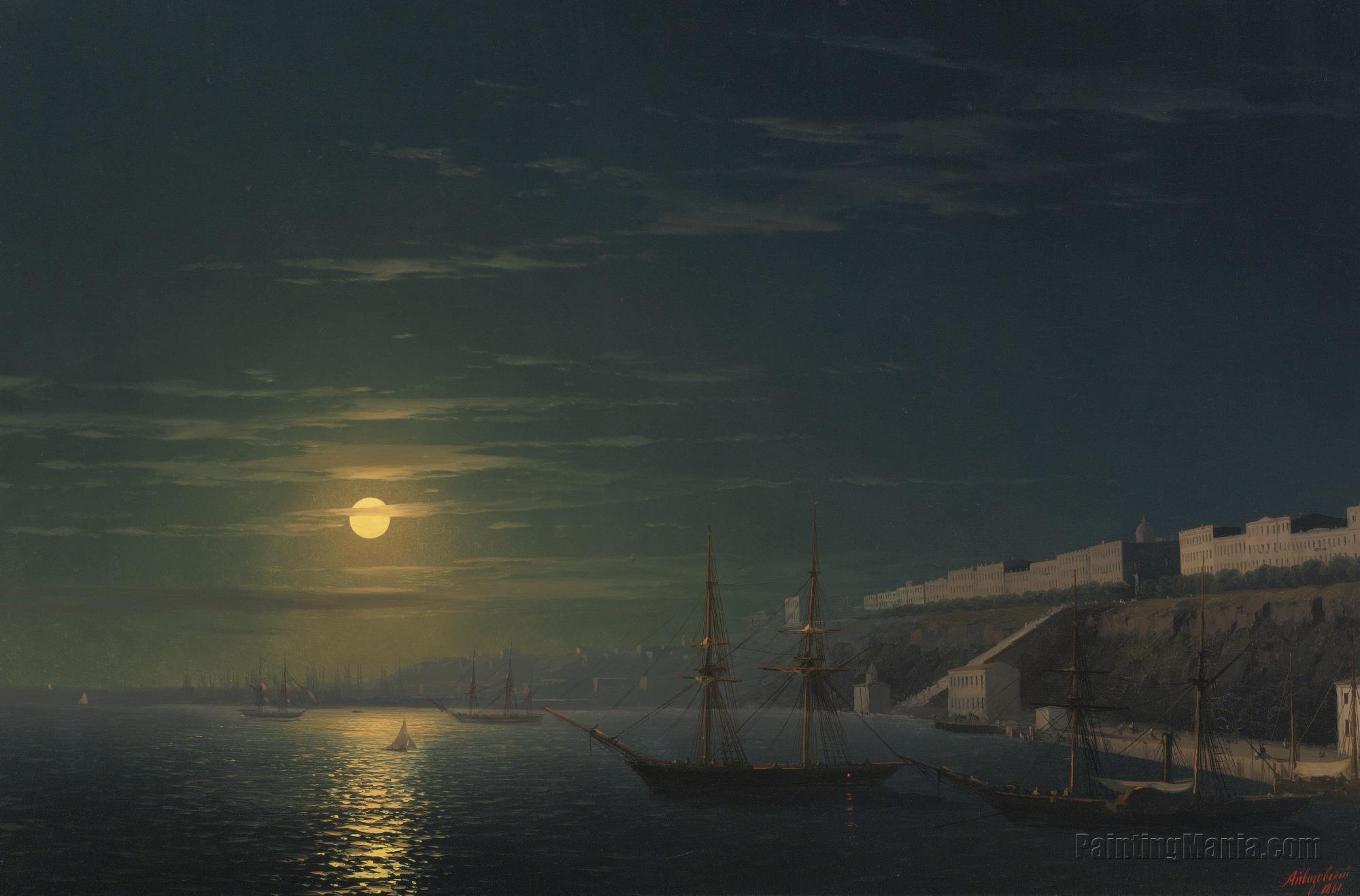 View of Odessa on a Moonlit Night