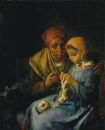 The Knitting Lesson 1869