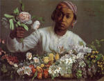 African Woman with Peonies 1870