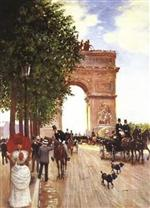 Arc De Triomphe, Champ-Elysees, Paris