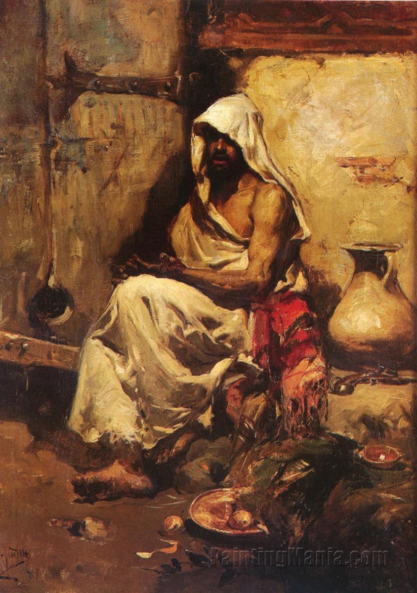 An Arab Examining a Pistol