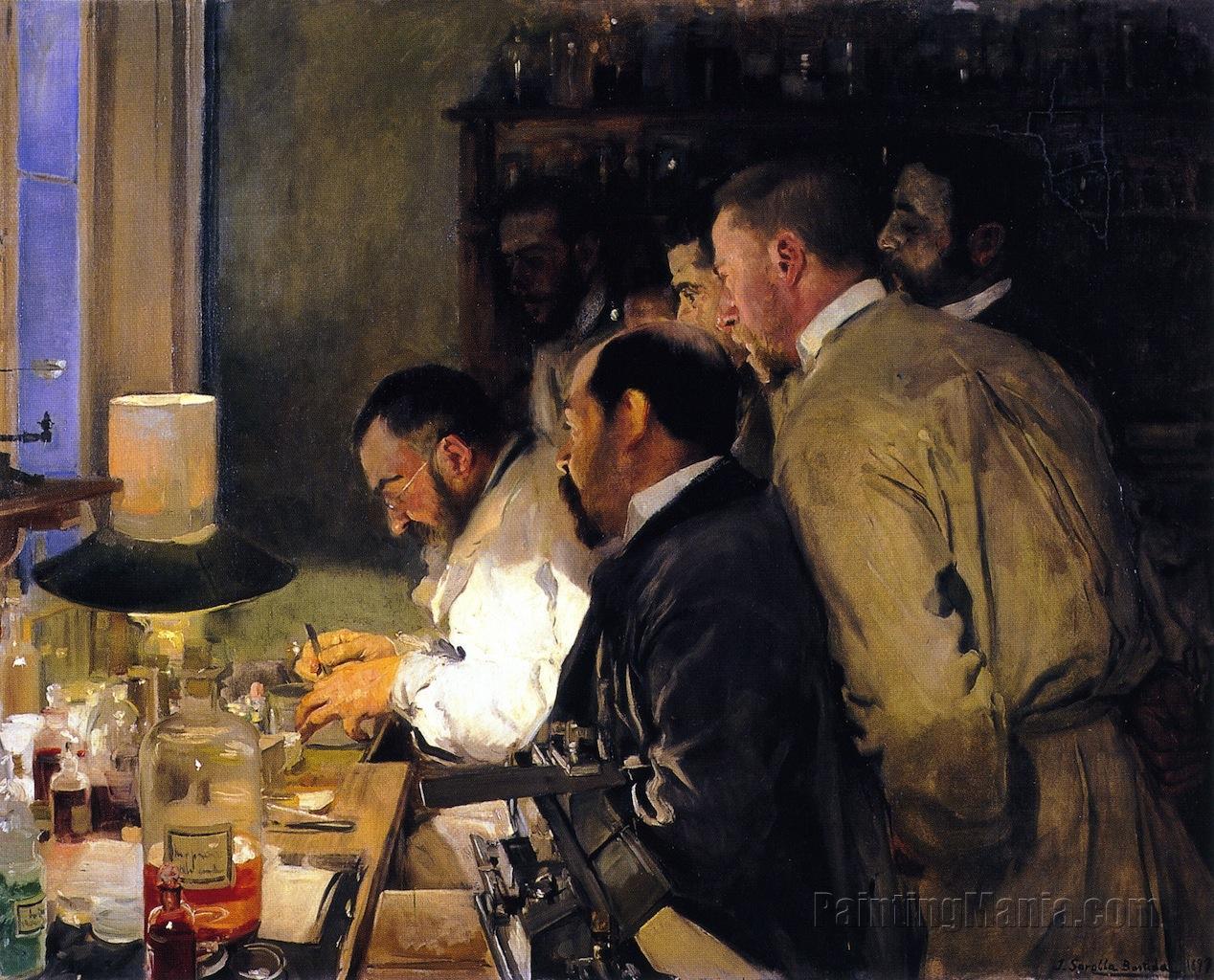 An Investigation, Doctor Samarro in His Laboratory