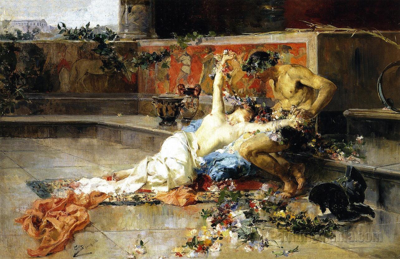 Messalina in the arms of the gladiator joaquin sorolla y - Galeria de arte sorolla ...