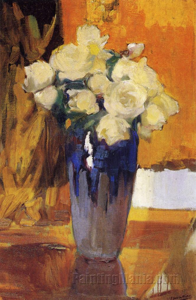 White Roses from the House Garden