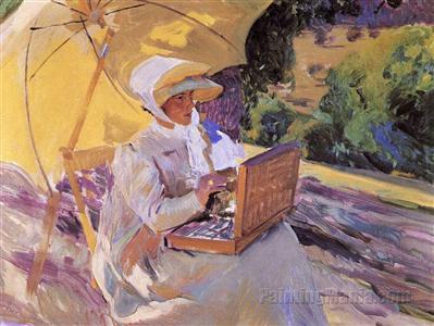 Maria Painting in El Pardo