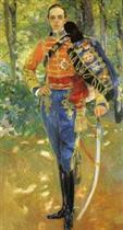 Alphonso XIII in Hussars Uniform