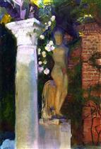 A Corner of the Garden at Casa Sorolla