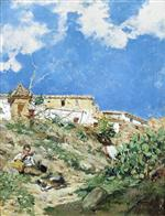 A Landscape with Figure in Sagunto, Valencia
