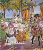 Valencia, Couples on Horseback