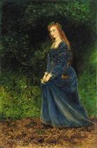 Portrait of the Artist's Wife, Theodosia, as Ophelia