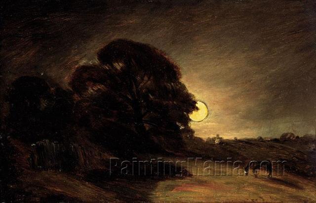 Edge of a Heath by Moonlight