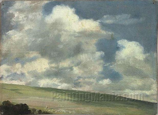 Scene on the Downs, near Brighton