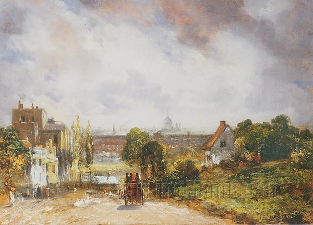 View of the City of London from Sir Richard Steele's Cottage, Hampstead 1832