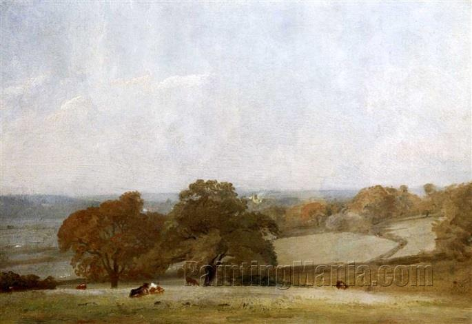 A View of Dedham from East Bergholt