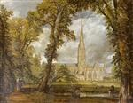 View of Salisbury Cathedral from the Bishop's Grounds