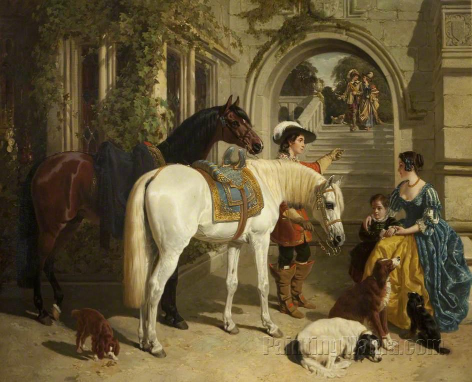 a Bay Horse in a Landscape Canvas Print Sr Negotiator John Frederick Herring