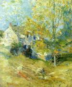 The Artist's House through the Trees (Autumn Afternoon)