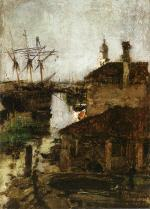 Ship and Dock, Venice