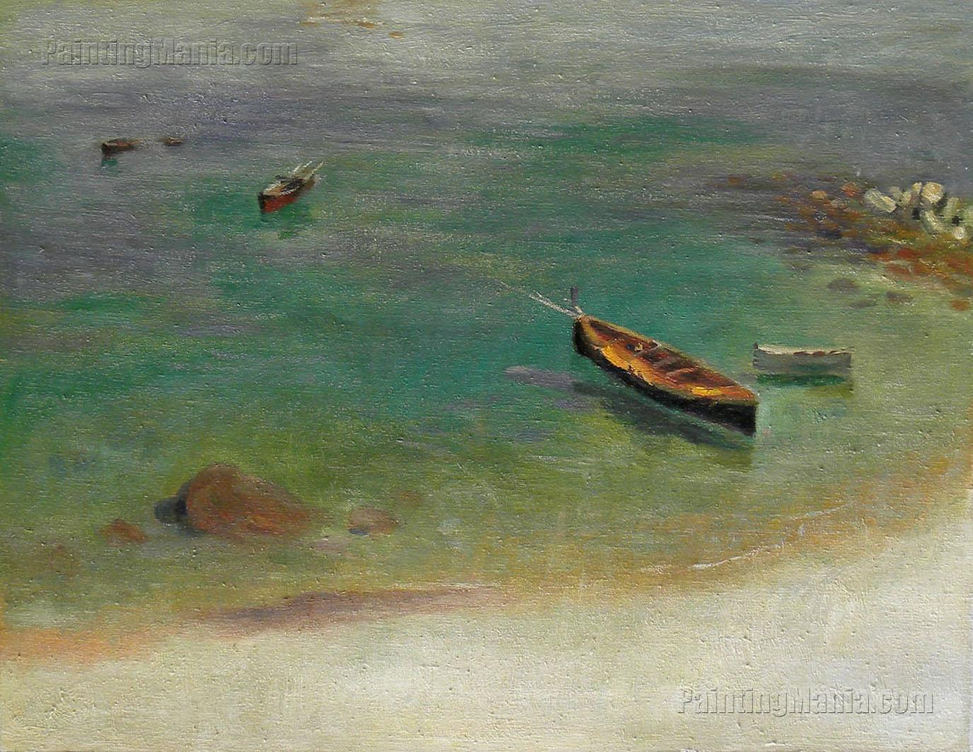 A Boat in the Waters off Capri
